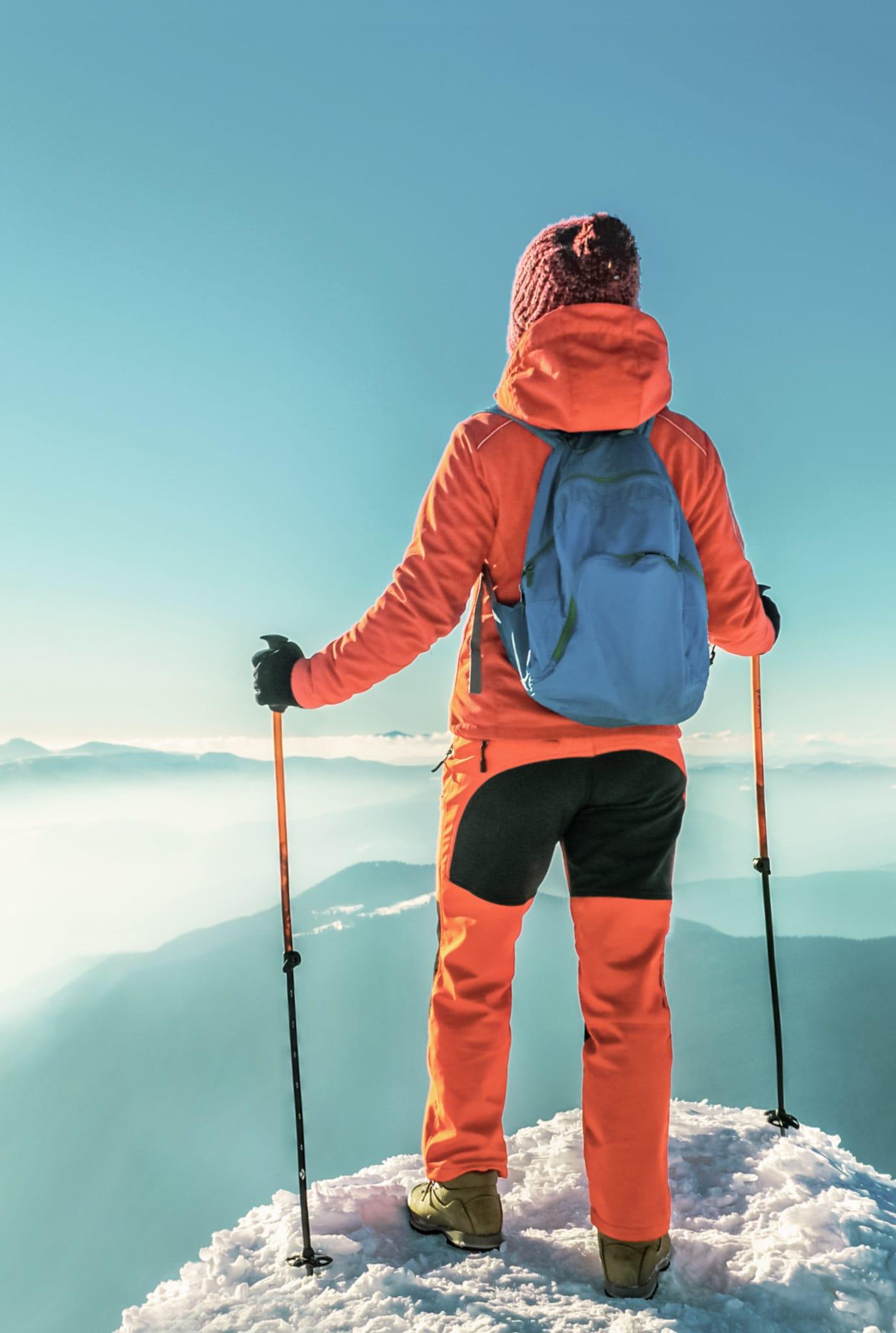 hiker at the summit